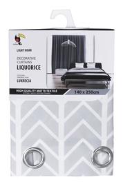 Tuckano Pattern Liquorice Curtain 140x250cm Light Grey w/ Ornament