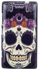 Zooky Silicone Back Case With Skulls Art Design Nokia 520