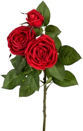 Home4you Artificial Flower Rose Red