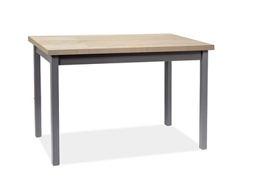 Signal Meble Adam Table 120x68cm Sonoma Oak/Anthracite