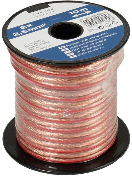 Vivanco Cable 2x2.5mm Transparent 10m 46824