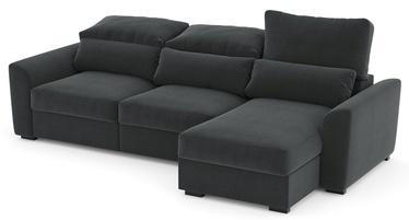 Stūra dīvāns Home4you Tito 63963, pelēka, 100 x 235 x 96 cm