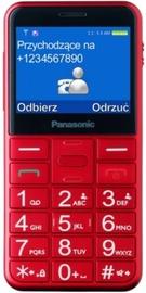 Mobilais telefons 5025232910946 Panasonic KX-TU150, sarkana