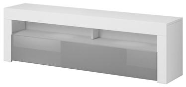 ТВ стол Vivaldi Meble Mex 2, белый/серый, 1400x350x500 мм