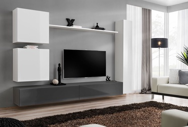 Dzīvojamās istabas mēbeļu komplekts ASM Switch VIII White/Graphite