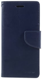 Mercury Bravo Diary Wallet Case For Apple iPhone X Navy