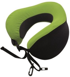 TravelSafe Travel Pillow Memory Foam Black/Green