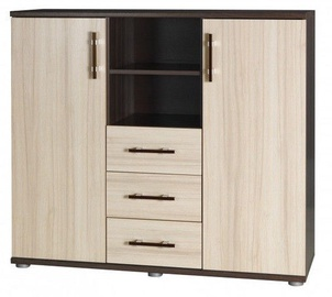 Jurek Meble Inez Plus Reg 9 Chest Of Drawers Dark Ash/Ash