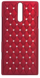 Telone Diamond Slim Hard Back Case Sony Xperia E Red