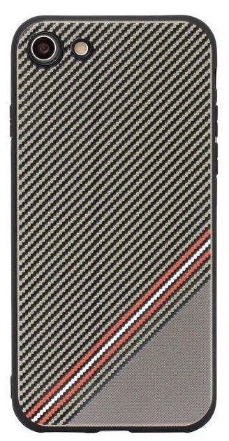 Mocco Trendy Grid And Stripes Pattern 1 Back Case For Samsung Galaxy S8 Plus Brown