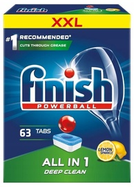 Finish All In 1 Box Lemon Tablets 63pcs