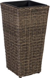 Home4you Flower Pot Wicker 28x60cm Dark Brown 35112