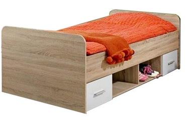 Детская кровать ASM Dino Sonoma Oak, 204x96 см