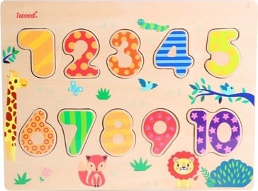 iWood Number Puzzle Wood Colorful