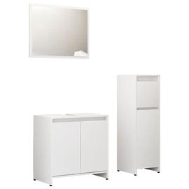 Vannas istabas mēbeļu komplekts VLX 3056931, balta, 30 x 30 cm x 95 cm