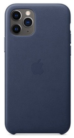 Apple Leather Back Case For Apple iPhone 11 Pro Midnight Blue
