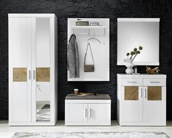 Black Red White Hallway Unit Boca White/Oak