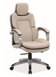 Signal Meble Q-388 Office Chair Cream/Brown