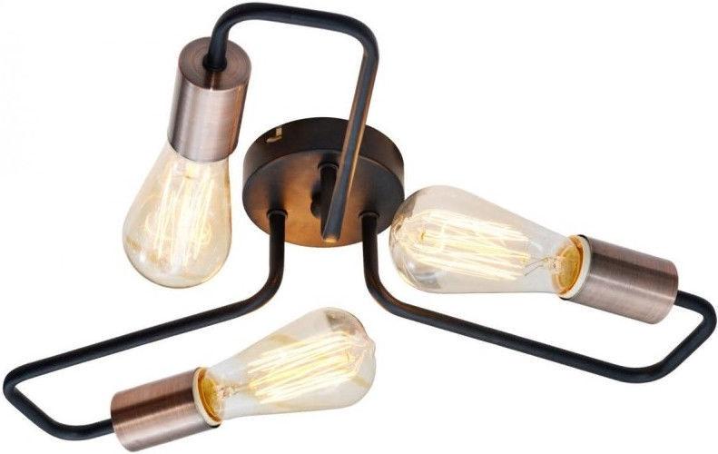 Gaismeklis Candellux Herpe 33-66916 Ceiling Lamp 3x60W E27 Black/Copper