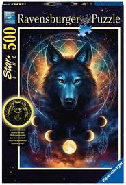 Puzle Ravensburger Star Line Lunar Wolf 13970, 500 gab.