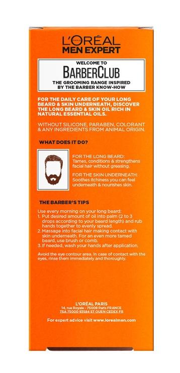 Масло для лица L´Oreal Paris Men Expert Barber Club Long Beard & Skin, 30 мл