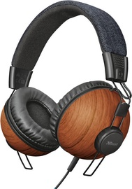 Austiņas Trust Noma Trust Noma Over-Ear Headphones Denim Wood