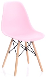 Ēdamistabas krēsls Homede Margot, rozā
