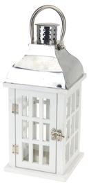 Wooden Lantern With Check Window 32cm