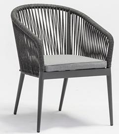 Dārza krēsls Masterjero, pelēka, 62x57x81 cm