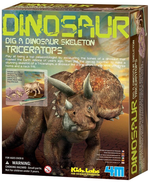 Intelektuāla rotaļlieta 4M Dig A Dino Skeleton Triceratops 3228