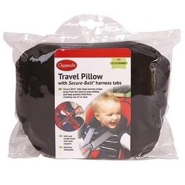 Clippasafe Secure Belt Travel Pillow Black 25705