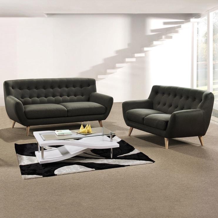 Dīvāns Home4you Rihanna 3 Grey, 185 x 84 x 87 cm