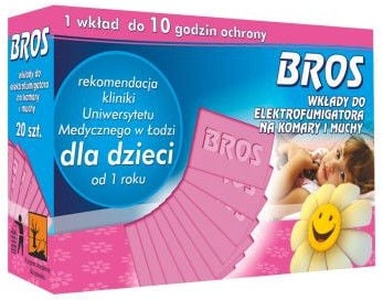 Bros Refill Pads For Mosquito Device For Children 20pcs