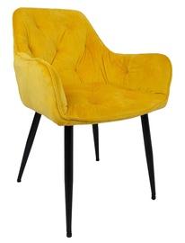 Ēdamistabas krēsls Home4you Brita, melna/dzeltena