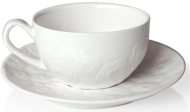 Mondex Affekdesign Rose 2 Cup And Saucer 270ml White