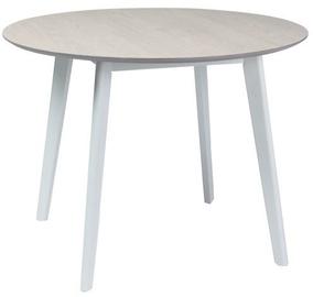 Обеденный стол Signal Meble Mosso II White Oak/White, 1000x1000x750 мм