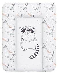 Matracis autiņu maiņai Ceba Baby Small Raccoon Soft, 70x50 cm, balta