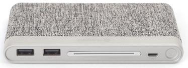 Platinet Fabric Braided Power Bank 10000mAh Grey