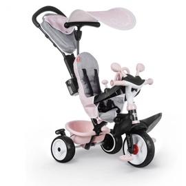 Трехколесный велосипед Smoby Driver Plus, розовый/серый