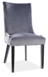 Ēdamistabas krēsls Signal Meble Leon Velvet, pelēka