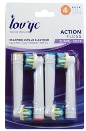 Насадка Lov'yc Action Floss Soft, белый, 4 шт.