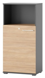 Полка Szynaka Meble Omega 06 Oak, 60x122x38 см