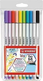 Ручка Stabilo Pen Brush 68, многоцветный, 10 шт.