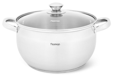 Fissman Prime Pot With Glass Lid 6.1l