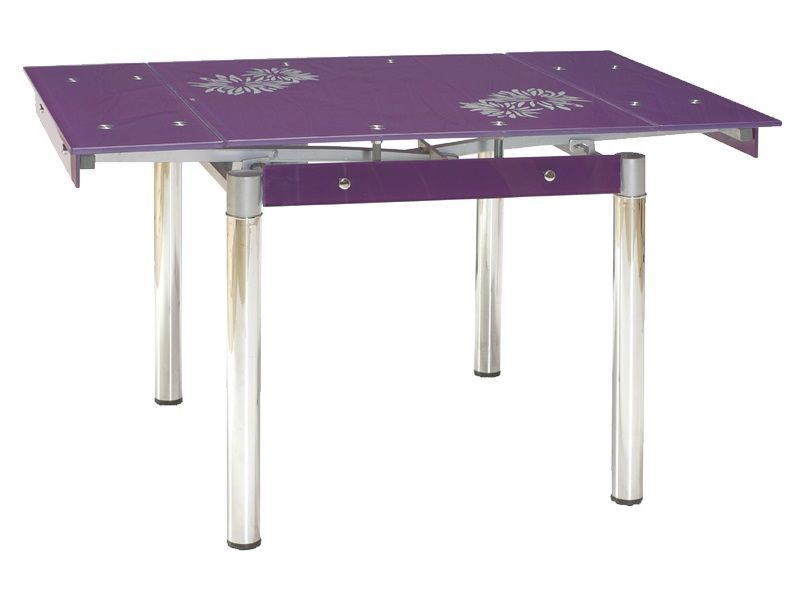 Обеденный стол Signal Meble GD-082 Purple, 800 - 1310x800x750 мм
