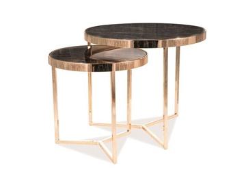 Журнальный столик Signal Meble Delia II Marble/Gold, 590x590x520 мм