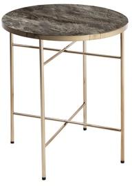 Журнальный столик Home4you Astoria Marble/Champagne, 420x420x510 мм