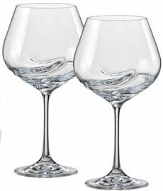 Vīna glāze Bohemia Crystalex Turbulence, 0.57 l, 2 gab.