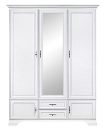 Skapis Black Red White Idento White, 159.5x60.5x216.5 cm, with mirror