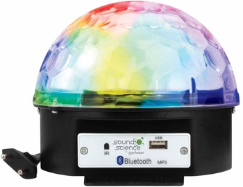 Bezvadu skaļrunis Manhattan Bluetooth Disco Light Ball Speaker, melna